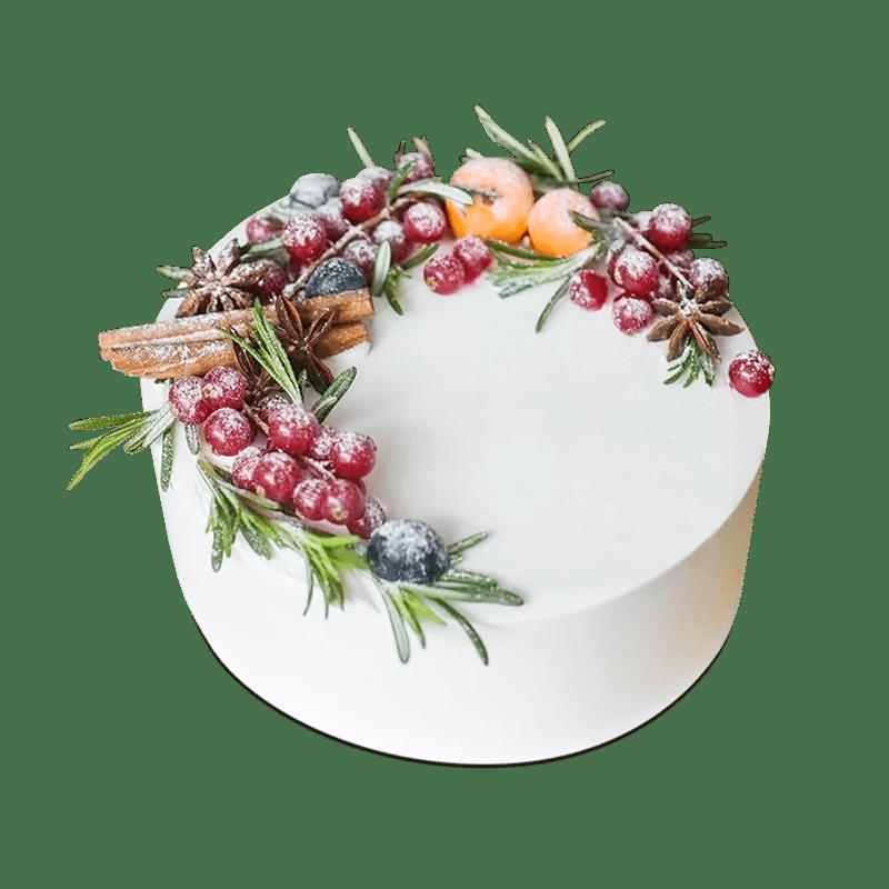 """Торт  на Новый год """"Рождественский букет"""" №2015"""