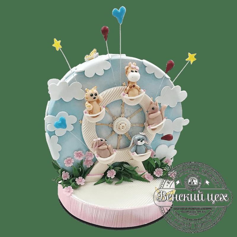 """Торт детский """"Карусель"""" №578"""