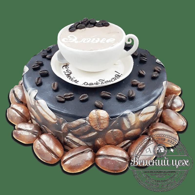 """Торт на день рождения """"Чашка кофе"""" №915"""