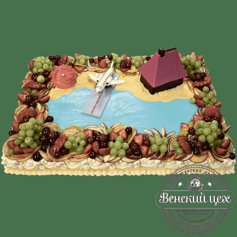 Торт на праздник «Остров счастья» №10