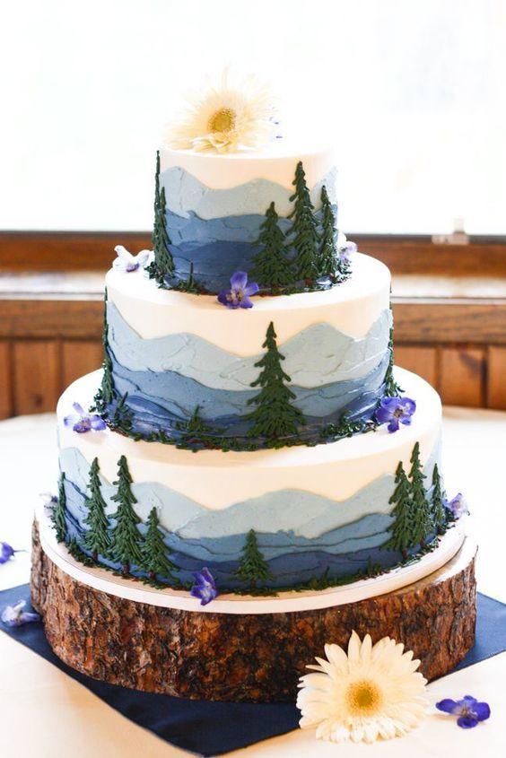 Торт  на свадьбу  № 1009