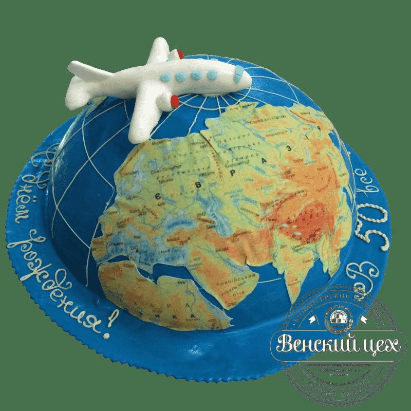 "Торт на корпоратив ""Полет над Землей"" №101"