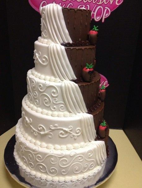 Торт  на свадьбу  № 1010
