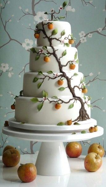 Торт  на свадьбу  № 1011