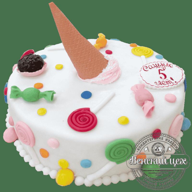 """Торт детский для девочки """"Сладкое попурри"""" №103"""