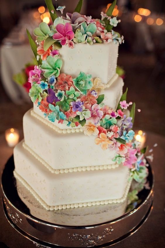 Торт  на свадьбу  № 1037