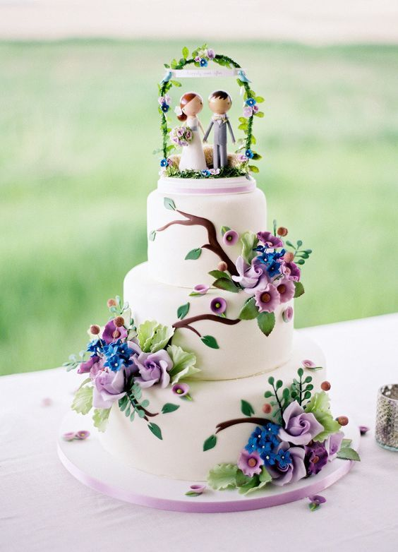 Торт  на свадьбу  № 1038