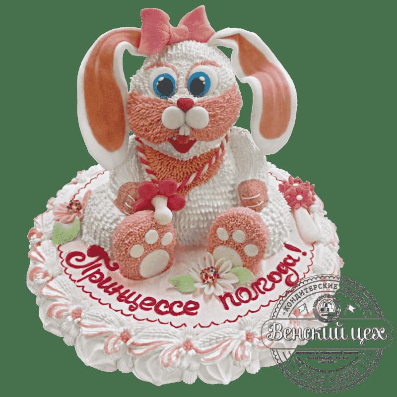 """Торт детский для девочки """"Кролик"""" №106"""