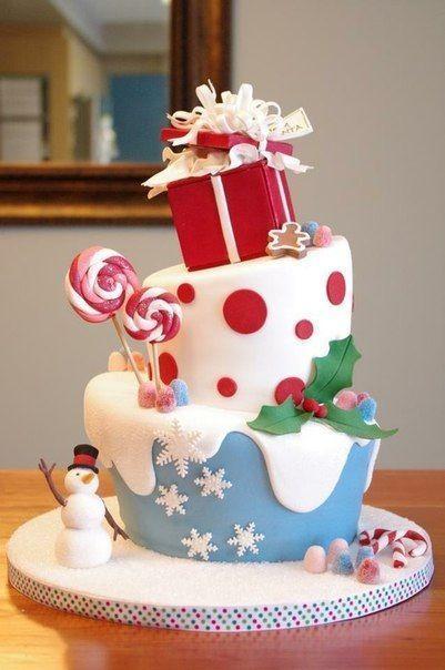 Торт  на Новый год  № 1065