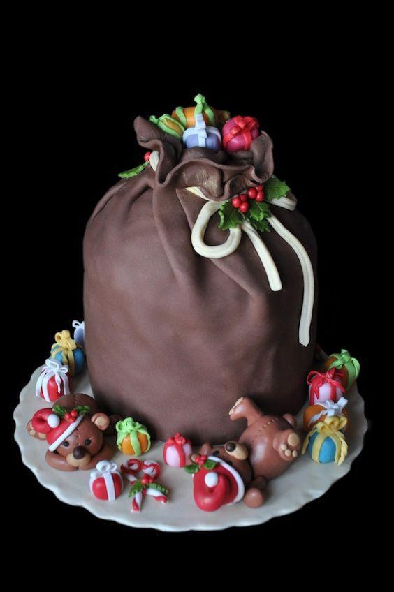 Торт  на Новый год  № 1072