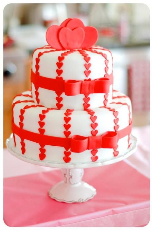 Торт  на День Святого Валентина  № 1088