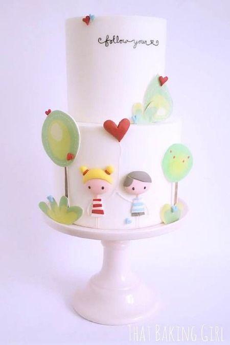 Торт  на День Святого Валентина  № 1089