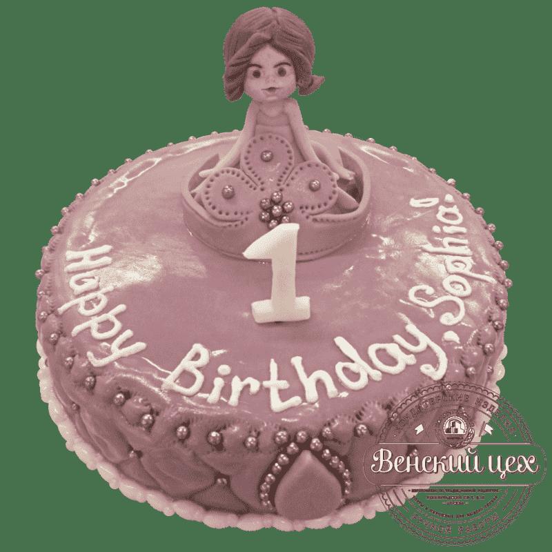 """Торт детский на 1 годик """"Маленькая принцесса"""" №109"""