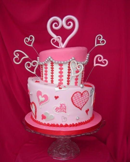 Торт  на День Святого Валентина  № 1090