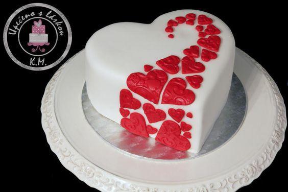 Торт  на День Святого Валентина  № 1091