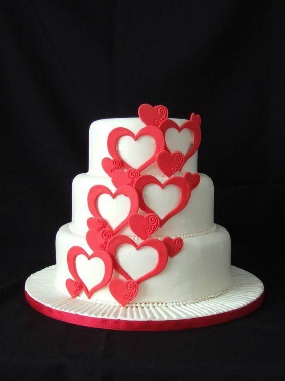 Торт  на День Святого Валентина  № 1092