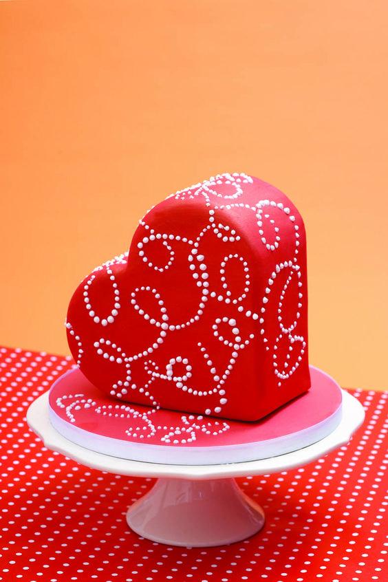 Торт  на День Святого Валентина  № 1093