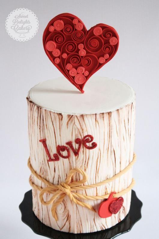 Торт  на День Святого Валентина  № 1094