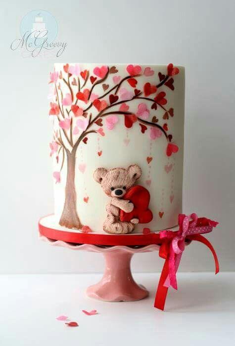 Торт  на День Святого Валентина  № 1095