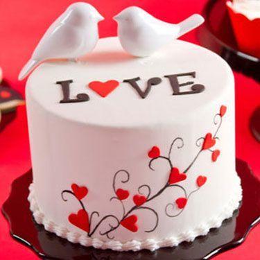Торт  на День Святого Валентина  № 1098