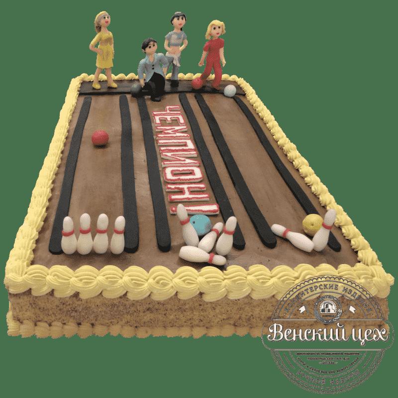 Торт на день рождения «Боулинг» №11