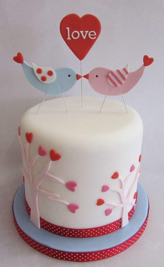 Торт  на День Святого Валентина  № 1103