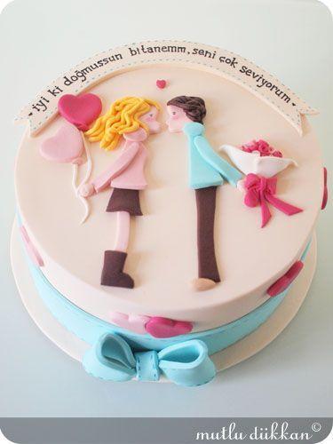 Торт  на День Святого Валентина  № 1107