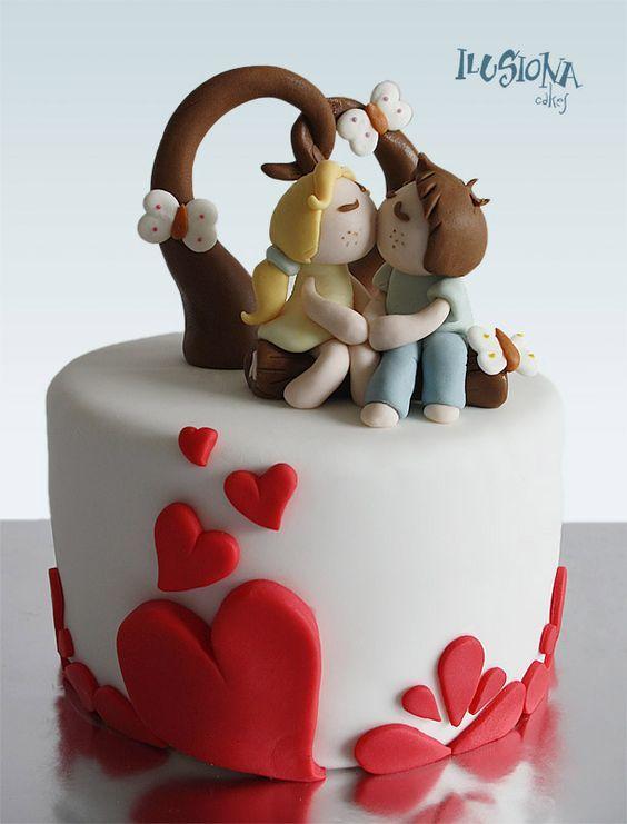 Торт  на День Святого Валентина  № 1108