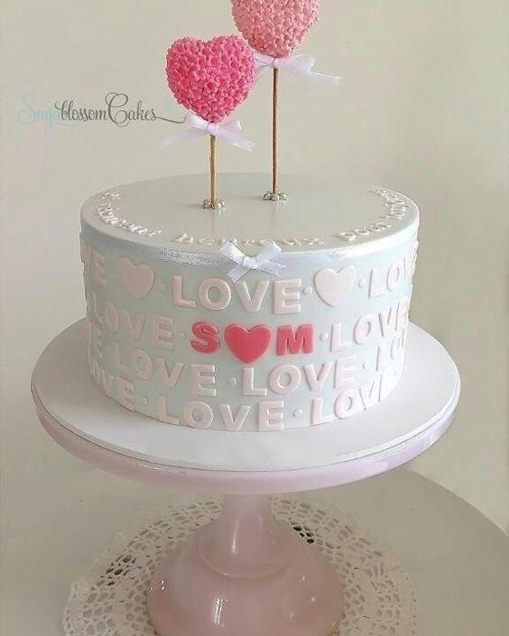 Торт  на День Святого Валентина  № 1109