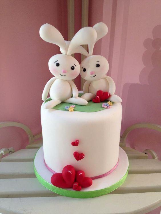 Торт  на День Святого Валентина  № 1112