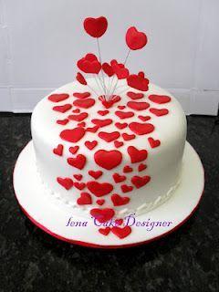 Торт  на День Святого Валентина  № 1114