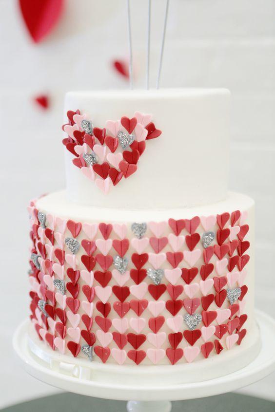 Торт  на День Святого Валентина  № 1115
