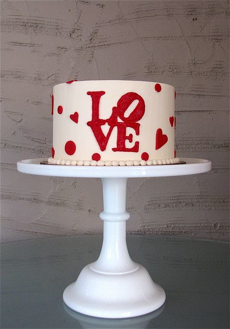 Торт  на День Святого Валентина  № 1119