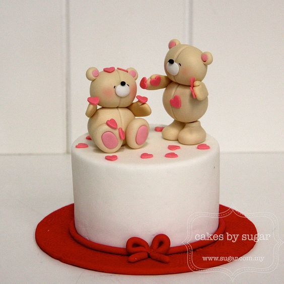 Торт  на День Святого Валентина  № 1123