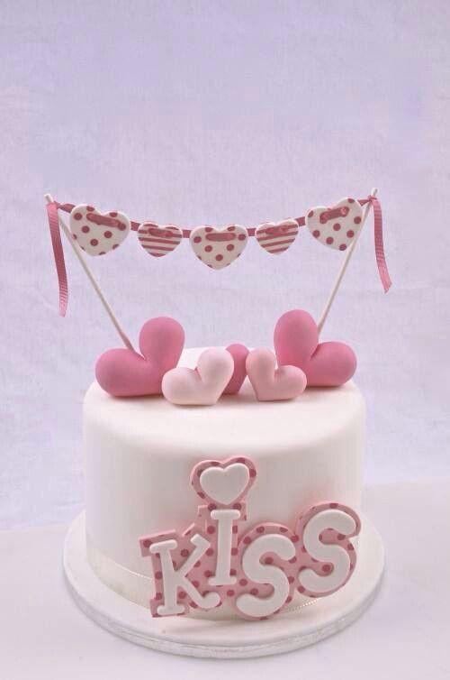 Торт  на День Святого Валентина  № 1125
