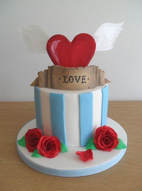 Торт  на День Святого Валентина  № 1127