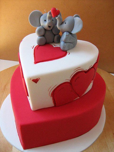 Торт  на День Святого Валентина  № 1128