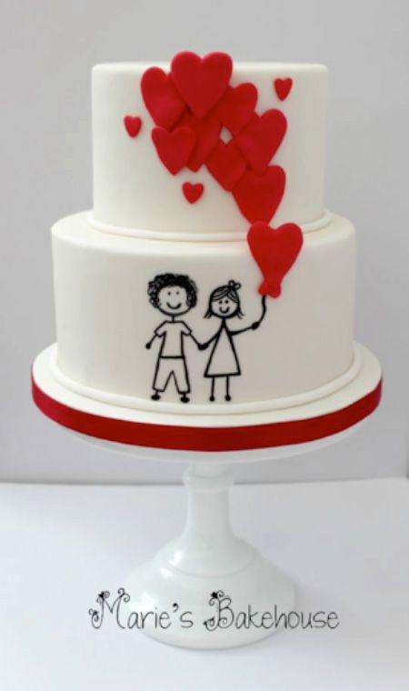 Торт  на День Святого Валентина  № 1130