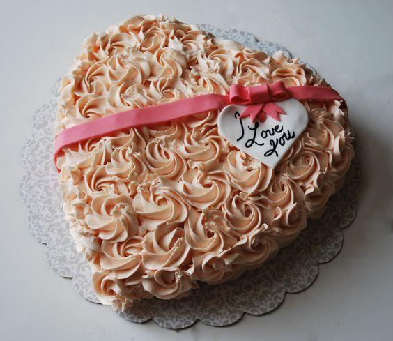 Торт  на День Святого Валентина  № 1134