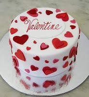 Торт  на День Святого Валентина  № 1135