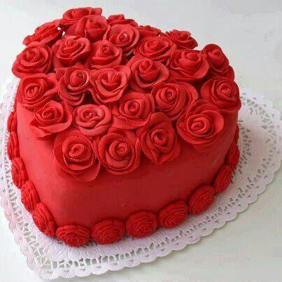 Торт  на День Святого Валентина  № 1136