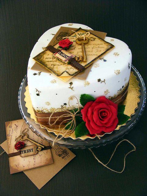 Торт  на День Святого Валентина  № 1141
