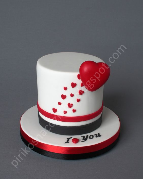 Торт  на День Святого Валентина  № 1145