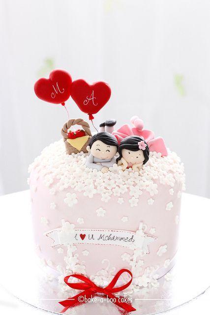 Торт  на День Святого Валентина  № 1147