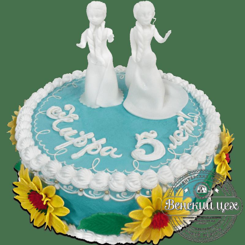 Детский торт «Торт для Эльзы» №1156