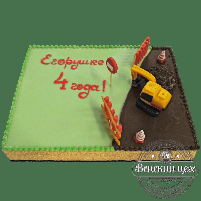 Торт детский «Экскаватор» №1162