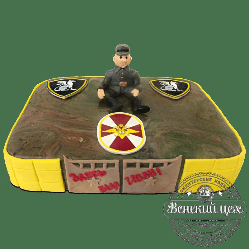 Торт на праздник «Воинская часть» №1163
