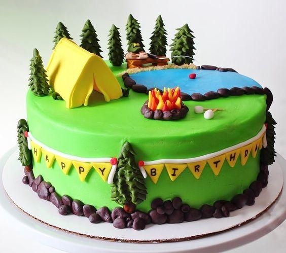 Торт  на день рождения  № 1198