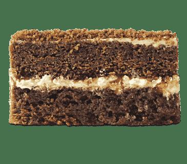 Пряный шоколадный бисквит со сливочным кремом и кусочками лимона