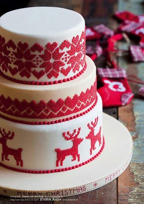 Торт  на Рождество  № 1228